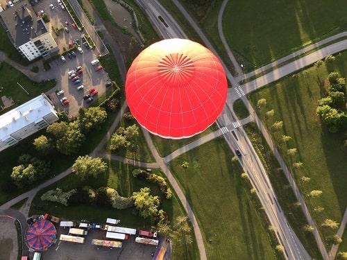 kuumailmapallolento hääparille